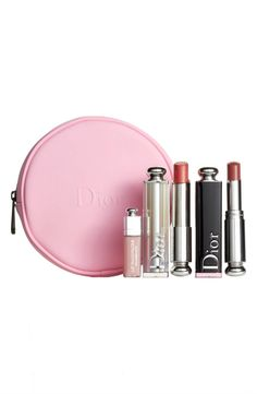 Dior Addicted to Nude Lip Set Hot Pink Lipsticks, Best Lipsticks, Lipstick Set, Pink Lip Gloss, Dior Makeup, Dior Addict, Nude Lip, Nordstrom Anniversary Sale, Lip Colors