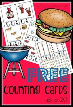 Picnic Activities, Math Activities For Kids, Kids Math Worksheets, Autism Activities, Preschool Lessons, Summer Preschool Themes, Preschool Special Education, Numbers Preschool, Summer Themes