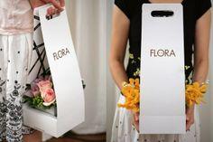 Flora New York | Flower arrangement. #Packaging #Branding