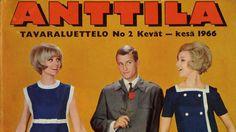 Anttilan katalogin kansi vuodelta 1966 henkii aikakauden tyyliä.