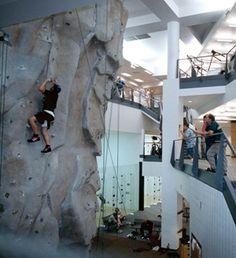 Rock Wall, Wellness and Recreation Center. UNI. Cedar Falls, IA. University Of Northern Iowa, Cedar Falls, Rock Wall, Mount Rushmore, Wellness, Spaces