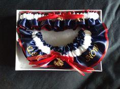 USMC dress blues garter. Both a throw and a keepsake garter