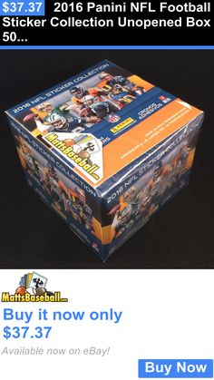 Sports Memorabilia: 2016 Panini Nfl Football Sticker Collection Unopened Box 50 Packs 350 Stickers BUY IT NOW ONLY: $37.37