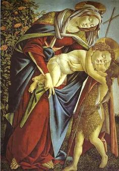 Sandro Botticelli (Italian artist, 1445-1510) Madonna and Child with a young John the Baptist