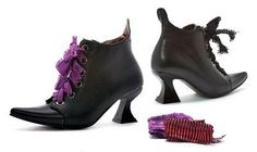 Shoes and Footwear 155347: Womens Black Witch Costume Boots -> BUY IT NOW ONLY: $41.98 on eBay!