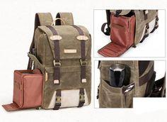 dslr camera backpack (5) Best Camera Backpack, Dslr Camera Bag, Stylish Camera Bags, Professional Camera, Rucksack Backpack, Waxed Canvas, Travel Bags, Backpacks, Leather