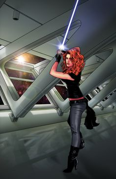 Mara Jade scene by on DeviantArt Star Wars Film, Star Wars Fan Art, Star Wars Concept Art, Star Wars Rpg, Star Wars Poster, Darth Revan, Thrawn Trilogy, Mara Jade, Jedi Sith