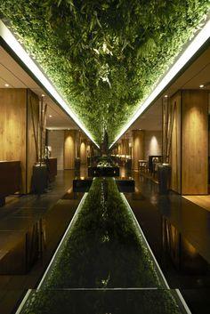 Green Belt Lounge _ Moonlit Garden Wuxi by TOMOHIRO KATSUKI, via Behance