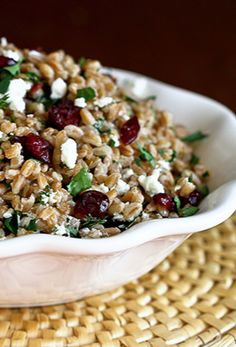 Farro, Cranberry and Goat Cheese Salad | Tasty Kitchen Blog