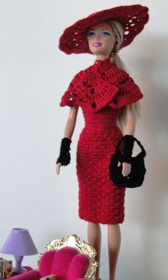 A Barbie se rendeu ao CROCHÊ!