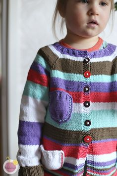 striped cotton cardican for a girl