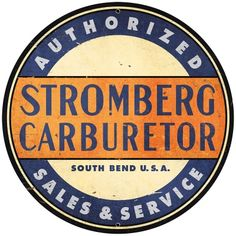 This Stromberg Carburetor Authorized Sales Metal Sign Large Round is made of heavy-duty steel and sports a vintage look. x reproduction sign, perfect for your man cave or garage. Made in the USA. Garage Signs, Garage Art, Garage Ideas, Vintage Metal Signs, Vintage Walls, Antique Signs, Antique Metal, Advertising Signs, Vintage Advertisements