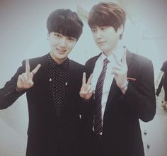 Yesung and Kyuhyun (evil Kyu)
