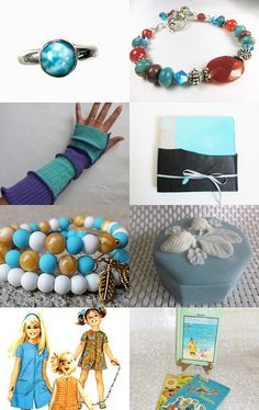 Lovely Teals by Amy Spock on Etsy--Pinned with TreasuryPin.com