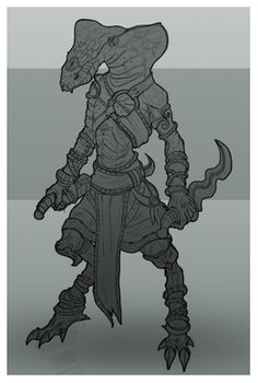 Lizard by Trufanov concept character flat New Fantasy, Fantasy Races, Character Concept, Character Art, Concept Art, Alien Creatures, Fantasy Creatures, Creature Drawings, Anthro Furry