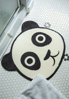 And onto this lovely panda bathroom mat. | 28 Adorable Animal Things You Need In Your Life