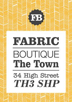 A4 flyer design - Fabric Boutique (available to personalise on our design online system)