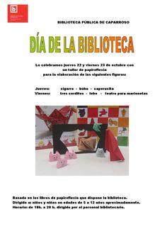 Cartel papiroflexia Día de la Biblioteca 2015