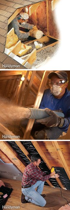 Attic Attic Insulation and Ventilation: Remodeling ideas, projects and tips for finishing, remodeling, ventilating and insulating and your attic. Attic Rooms, Attic Spaces, Attic House, Home Improvement Projects, Home Projects, Home Fix, Attic Remodel, Home Upgrades, Home Repairs