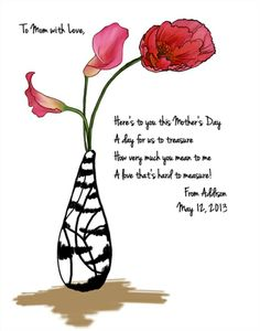 A personalized Mother's Day message for your beautiful Mother. :)