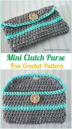 Crochet MiniClutch Purse Free Pattern - Crochet Clutch Bag & Purse Free Pattern