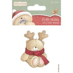 Forever Friends Christmas Kraft Notes Mini Clear Stamp
