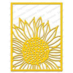 Ellen Hutson LLC - Impression Obsession Dies, Sunflower Background, $25.00 (https://www.ellenhutson.com/impression-obsession-dies-sunflower-background/)