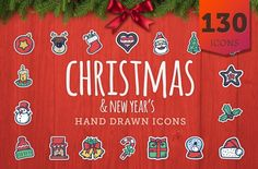 Christmas Icons - Hand Drawn Icons - cover