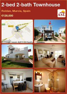 2-bed 2-bath Townhouse in Roldan, Murcia, Spain ►€128,000 #PropertyForSaleInSpain