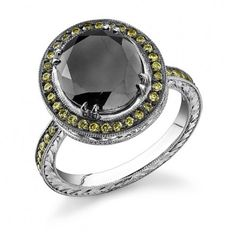 DF Austin Black and Green Diamond Ring. Conflict Free, too!