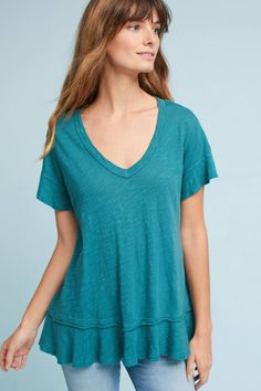 Shop the Ruffled V-Neck Tee and more Anthropologie at Anthropologie today. Read customer reviews, discover product details and more.
