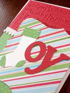 "Handmade Christmas cards ""joy"" - 8 pack"