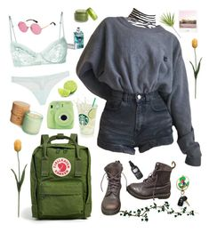 """Natural"" by kms-bros ❤ liked on Polyvore featuring Dr. Martens, La Perla, Fjällräven, Martha Stewart, Fujifilm and Polaroid"