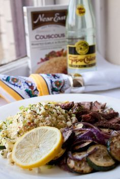 Lemon and Feta Couscous; Robert Keenan Chardonnay; good company; healthy & delicious.