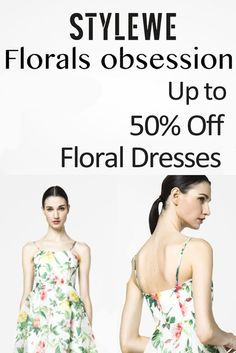 StyleWe is offering up to 50% discount on Floral Dresses. Check all the new season dresses. For more StyleWe Coupon Codes visit: http://www.couponcutcode.com/stores/stylewe/