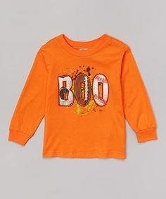 Look at this Orange 'Boo' Tee - Toddler
