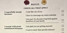 Funny wedding RSVP card -repinned from Los Angeles County, California marriage officiant https://OfficiantGuy.com