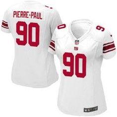 f0e6b52d3 NFL Women's Elite Nike New York Giants #90 Jason Pierre-Paul White Jersey $109.99