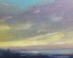 Oil painting on panel 4 x 6 Beach