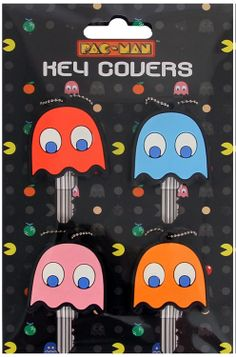 PAC-MAN Ghost Key Covers on GeekAlerts.com