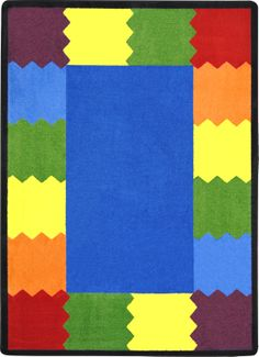 Block Party Kids Rug in Multi Color x - Joy Carpets vibrant colors of Block Party© will create the perfect space in the classroom for fun on the Features:Made in USAColor: MultiMaterial: STAINMASTER® NylonB Classroom Carpets, Preschool Furniture, Classroom Furniture, Block Party, Persian Carpet, Red Rugs, Blue Area Rugs, Rugs On Carpet, Vibrant Colors
