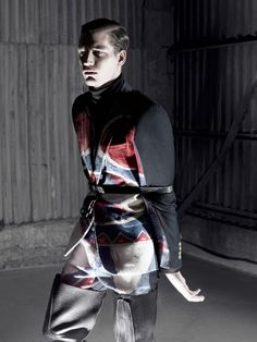 """""""Prestage magazine teams up with fashion photographer Zeb Daemen for their fifth issue. Capturing model Florian Van Bael tied up in designs by Walter Van Beirendonck. Walter Van Beirendonck is part of the 'Antwerp Six'. The Antwerp Six refers to a group of influential avant garde fashion designers who graduated from Antwerp's Royal Academy of Fine Arts between 1980-1981. Amongst these 'Six' were Ann Demeulemeester, Dries van Noten, Dirk Van Saene, Dirk Bikkembergs and Marina Yee."""""""