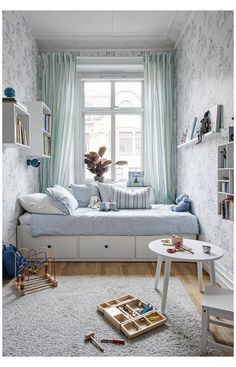 Small Apartment Bedrooms, Small Room Bedroom, Trendy Bedroom, Small Rooms, Kids Bedroom, Small Spaces, Kids Rooms, Room Kids, Master Bedroom