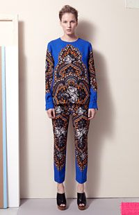 Ornate Floral Print Vasily Top, Ornate Floral Print Hamilton Trousers, Bailey Mules