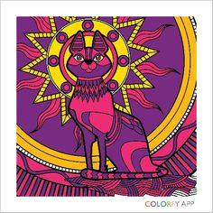 Gatita  Colorfy App, Playing Cards, Purple, Art, Gatos, Art Background, Playing Card Games, Kunst, Performing Arts