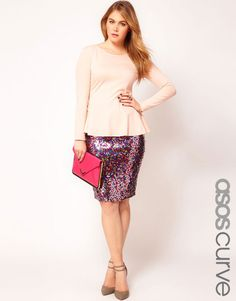 Multi Sequin Pencil Skirt - Lyst