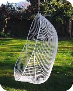 MID CENTURY STYLED FURNITURE | METAL WIRE FURNITURE | HANGING EGG CHAIR $749 icotraders.co.nz