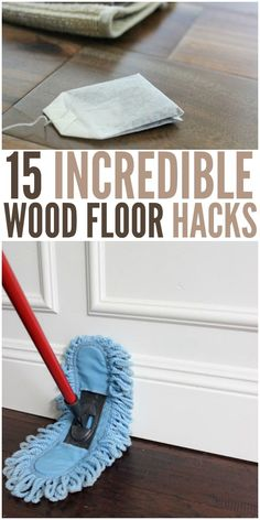 Keeping our hardwood floors clean and looking beautiful is a constant battle at my house. I'm always looking for hacks to help and I finally found them! Check out these incredible ideas to keeping your wood floors in tip top shape!
