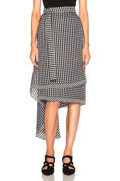 Preen by Thornton Bregazzi Lea Skirt in Black Gingham | FWRD