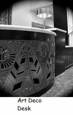 Art deco desk love it more. Look Gatsby, Art Deco Desk, Art Nouveau Furniture, Art Deco Buildings, Retro Home Decor, Dieselpunk, Architecture Details, Art Deco Fashion, Decoration